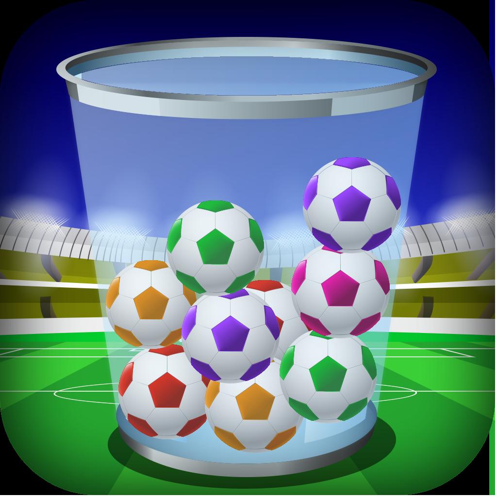 A Soccer Balls Cup Drop